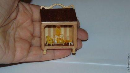 Кукольный дом ручной работы. румбокс 1:144. Елена Авдеева. Ярмарка Мастеров. Миниатюра 1 144, оркстекло