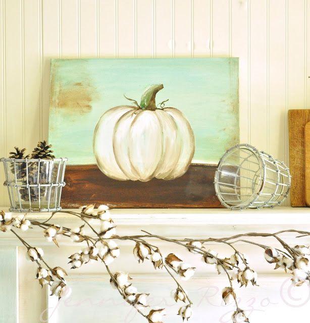 Paint a pumpkin on canvas