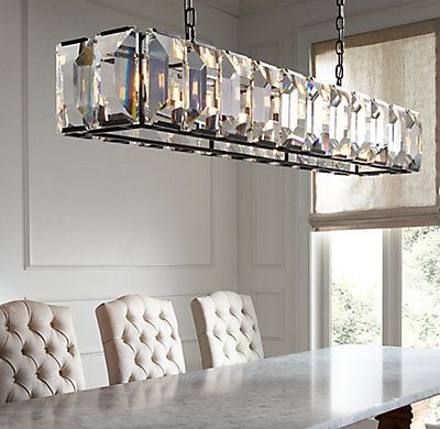 Harlow Crystal Rectangular Chandelier 42 Kitchen In 2018 Pinterest Lighting And