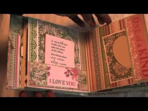 ▶ Scrapbooking cardstock mini album - YouTube