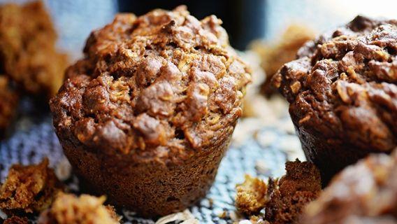 Muffins à la citrouille et à la mélasse, réduits en gras, 113 calories par portion