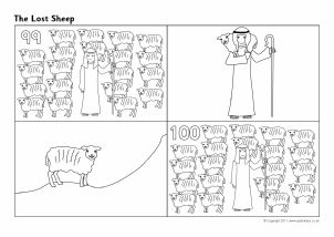 View Preview | The lost sheep, Bible coloring pages, Bible ...
