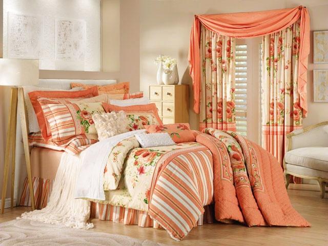 Homechoice Primrose Peach Bedding Home Bedroom Sets