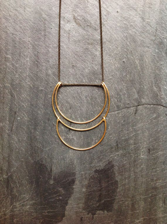 ~Hammered Planets Necklace - By Loop Jewelry~ Part of the Loop Jewelry Geometric line, this quaint planets necklace has been formed and