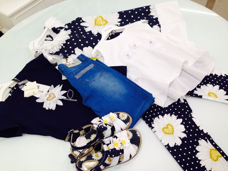 Monnalisa   Spring-Summer Collection   Girl #Monnalisa #spring #summer #kids' #fashion #girl #blue #yellow #flower #jeans #white #tshirt #shoes #dress #skirt #carryonjunior