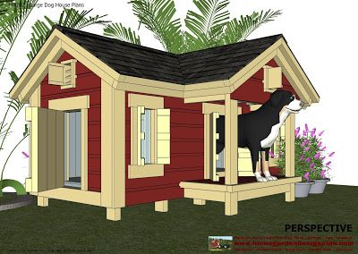 Insulated Dog House Plans -- would look great with our craftsman house.