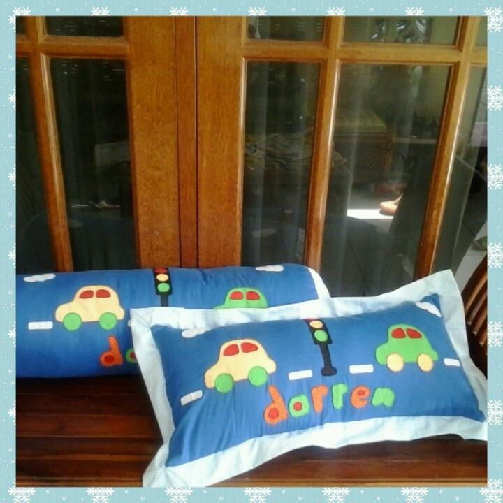 handmade stitch applique pillow & bolster
