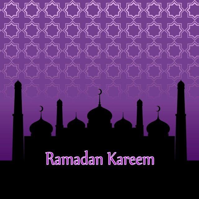 Ramadan Kareem Purple Banner With Pattern Ramadan Kareem Ramadan Ramadan Kareem Vector