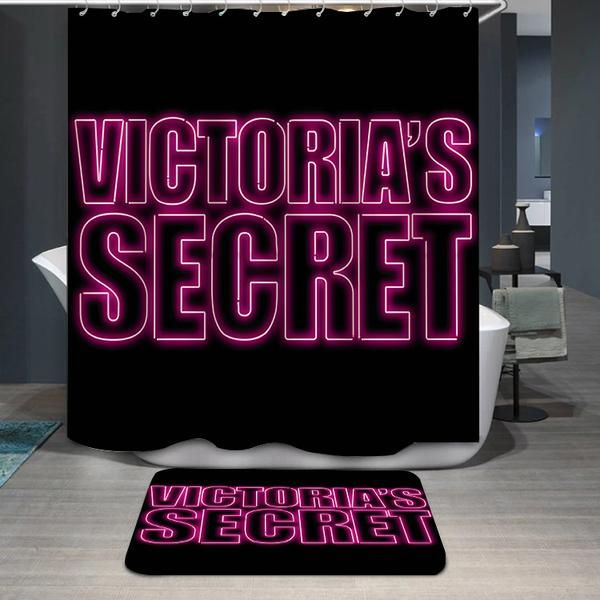 Victoria S Secret Pink Logo Custom Shower Curtain Custom Shower