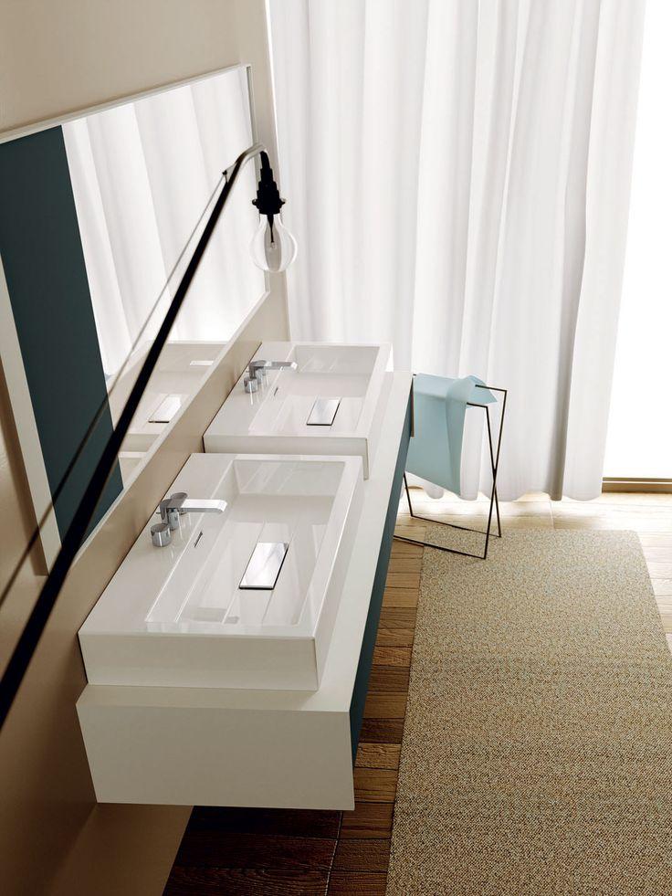 Linee a taglio netto e geometrie semplici per il tuo #bagno - www.gasparinionline.it #bathroom #furniture #arredo #lovelyhome