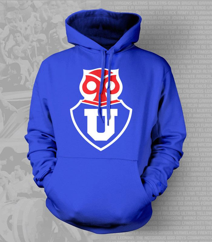 Show your passion and stay warm with this beautiful U de Chile Hoody/Sweatshirt. - Gildan Heavy Blend - Classic Fit Hooded Sweatshirt - 50% Cotton / 50% Polyester - Air Jet Yarn = Softer Feel and redu