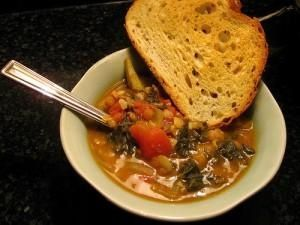 Zuppa di lenticchie alla sarda ( con fregola)