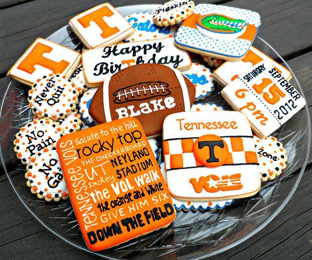 Tennessee vs Florida Sugar Cookies #football