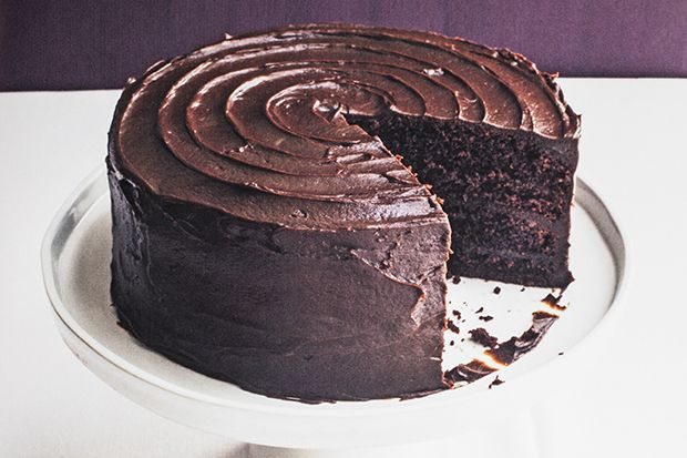 Find the recipe for Chocolate Fudge Layer Cake and other chocolate recipes at Epicurious.com.  New twist on chocolate frosting.
