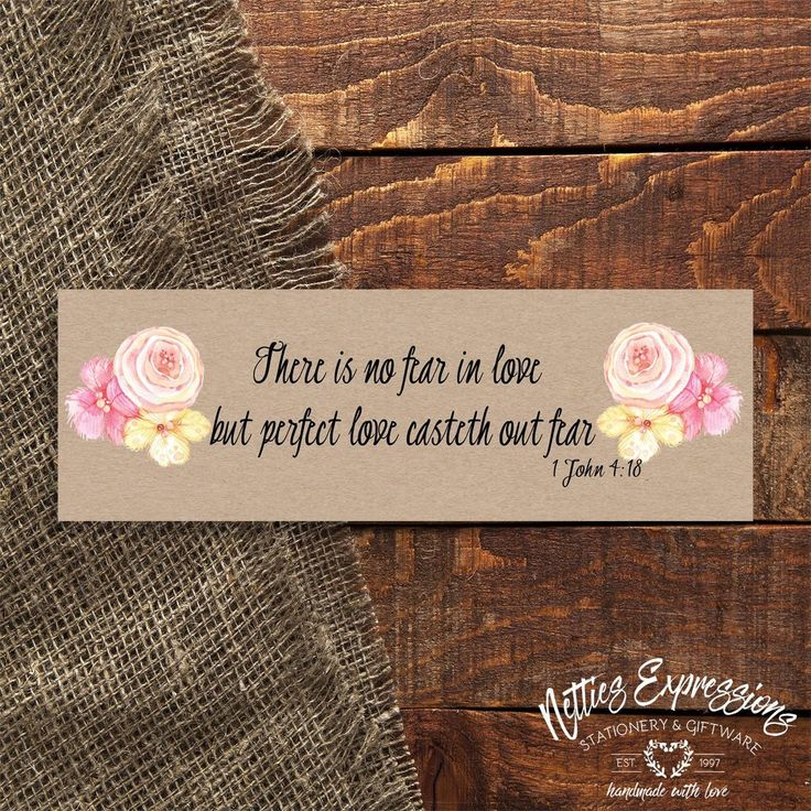 There is no fear - Bookmark