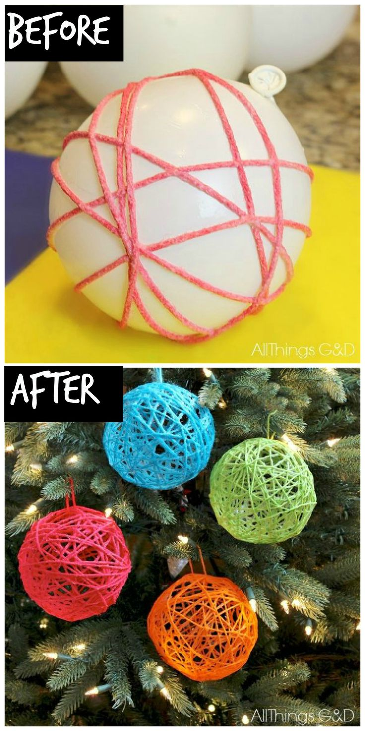 How to make yarn ball ornaments