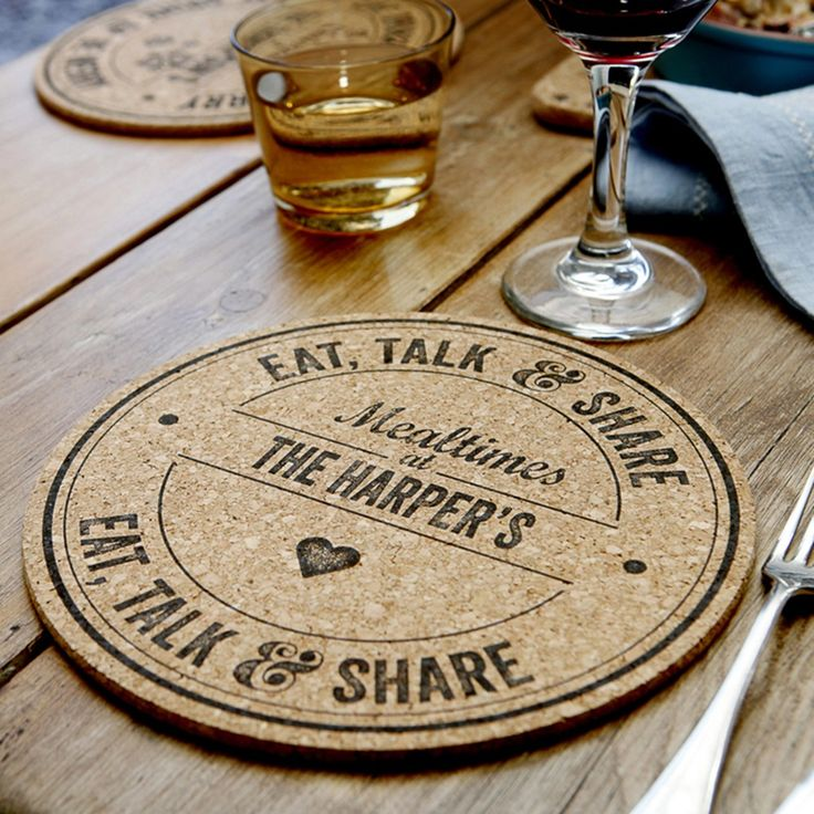 Personalised Cork Placemats | I Just Love It