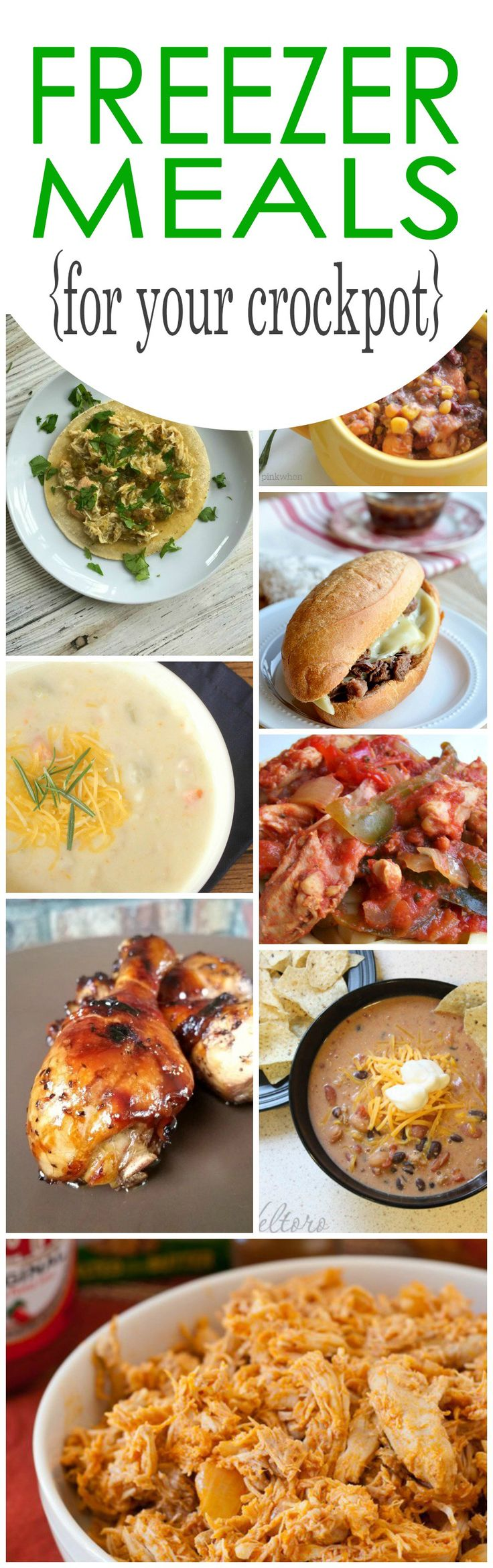 Freezer Meals for Your Crockpot! Easy and Simple Meal Ideas for Dinner!