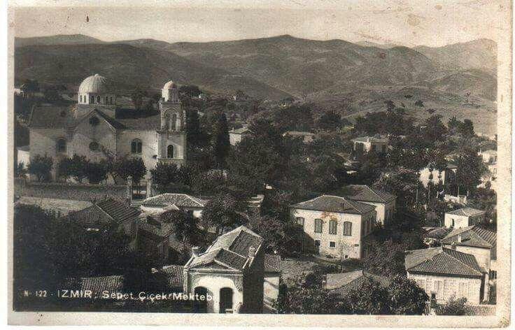 Simdiki Göztepe kiz meslek lusesinin yerinde eskudrn agios panteleimon Ortodoks kilisesi vardi