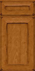 Square Recessed Panel - Solid (AB6M) Maple in Burnished Golden Lager - Base
