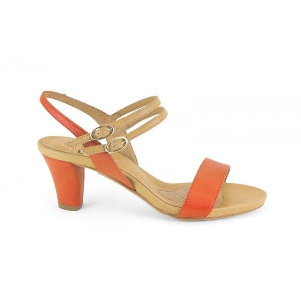 13031-131 GEL Luna naranja - zapato de piel de la marca MIKAELA gel
