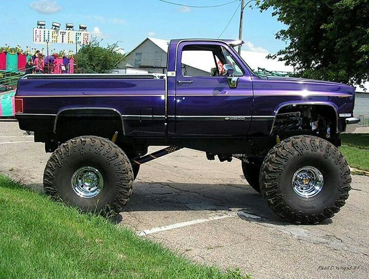 """Several truck owners had created lifted trucks to compete in such events, and soon competition to hold the title of """"biggest truck"""" developed. Description from pinterest.com. I searched for this on bing.com/images"""