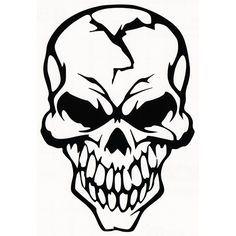 Skull Laptop Car Truck Vinyl Decal Window Sticker PV348