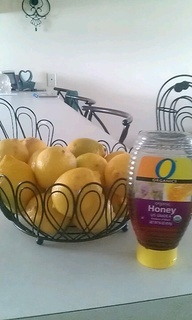 Sore throat? This will help. Take a lemon and cut into round slices. Add 3 to 4 slices to about 6oz of hot water. I squeeze some of the juice into the water then drop the sclices in. Then add a heaping tbs of honey, add more if needed for taste. Sip on it to relieve a dry,scratchy, sore throat. It also helps to open airways for those with asthma.