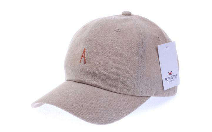 A Logo Beige Ball Cap - Baseball Cap / Casual Cap / Couple Cap / Student Cap #Unbranded #Simple