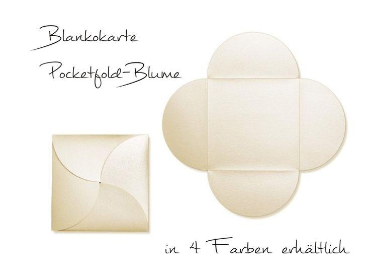 Einladungskarten - DIY Einladung Pocketfold-Blume (10Stck) - ein Designerstück von oh-itsababy bei DaWanda