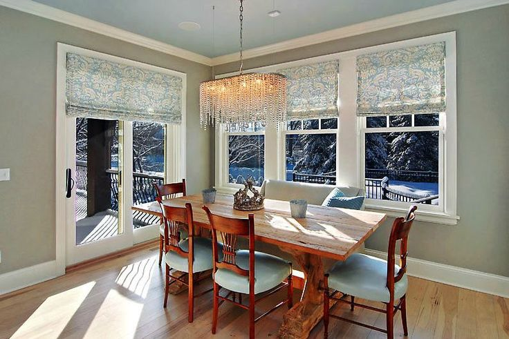 Sliding patio door window treatment home improvement for Dining room windows