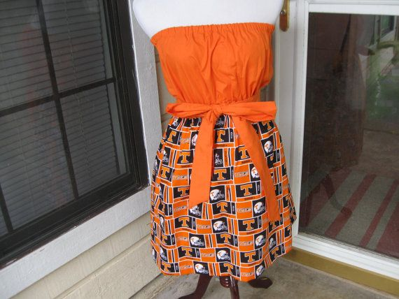 Ladies University of Tennessee Game Day Dress Made to Order sizes 4 to 6 custom made TEAM Spirit Sorority Dress
