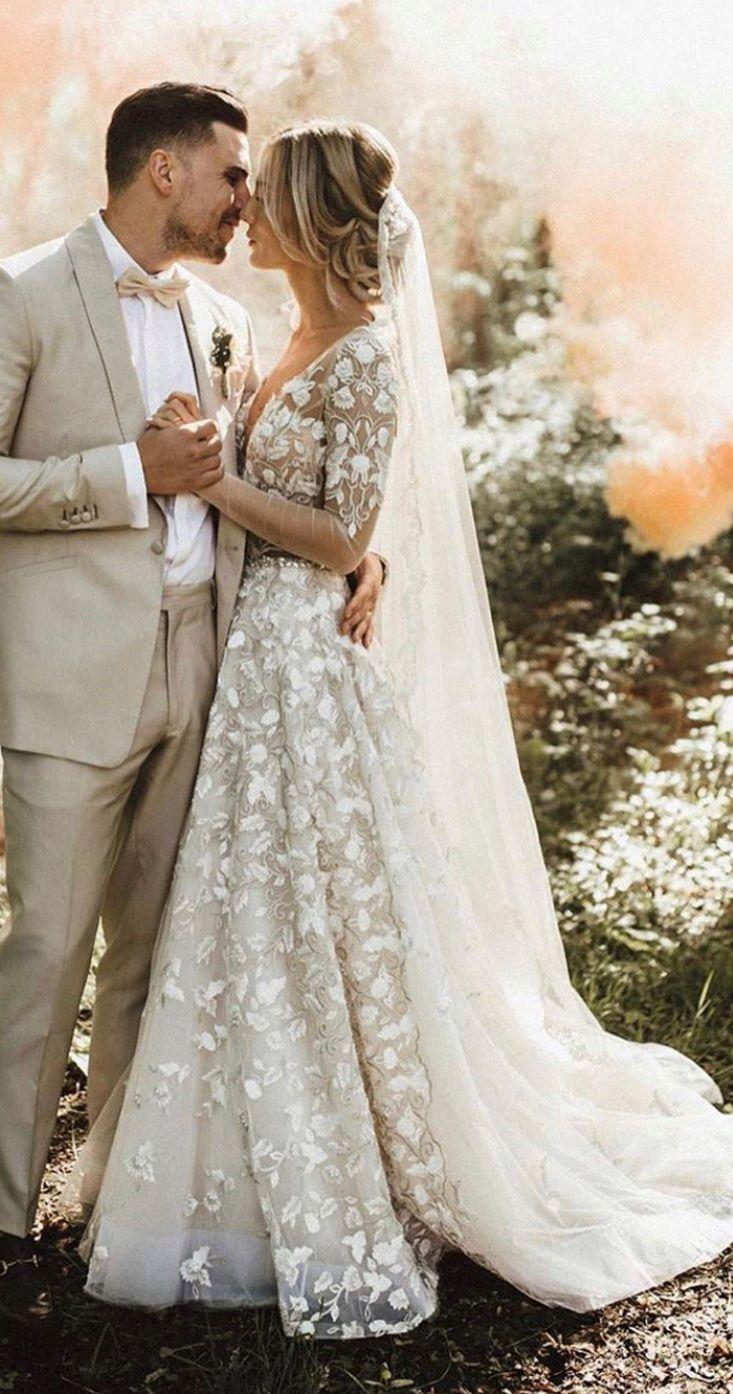 Berta Bride Wedding Dresses Lace Bridal Gown Disney Princess Wedding Dresses [ 1394 x 733 Pixel ]