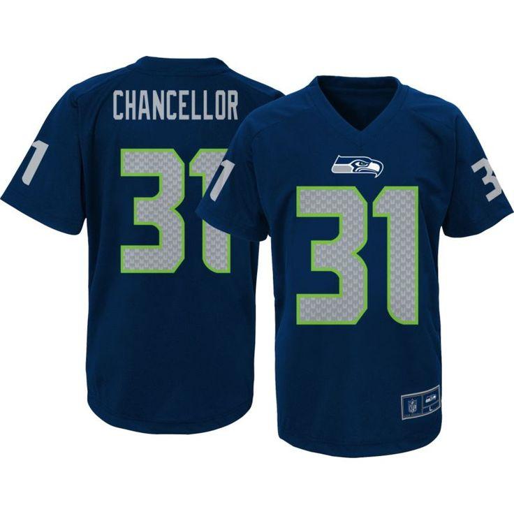 Team Apparel Youth Seattle Kam Chancellor #31 Navy Performance T-Shirt, Size: Medium