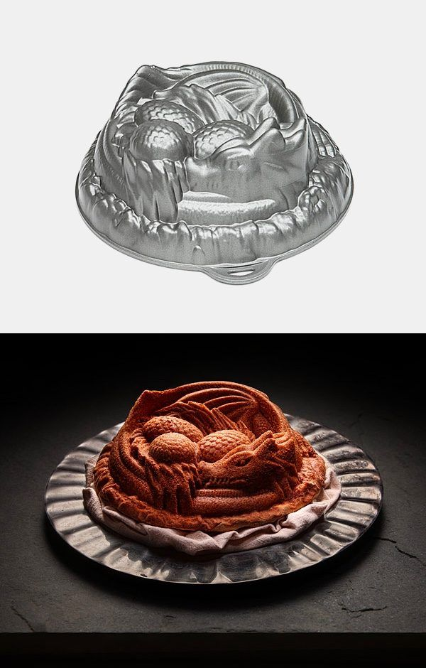 Dragon Cake Pan! - 50 Dragon Home Decor Accessories To Give Your Castle Medieval Appeal
