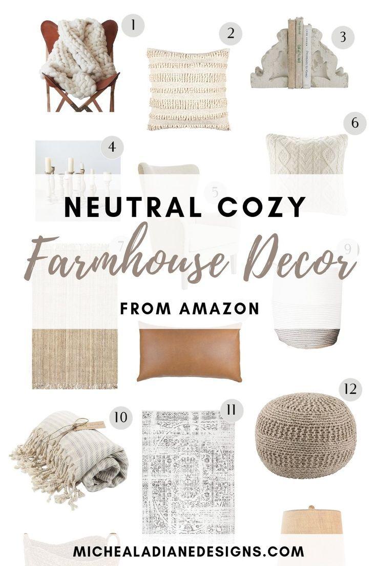 Neutral Cozy Decor From Amazon Amazon Home Decor Country House Decor Cozy Decor