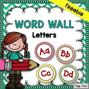 These cute Word Wall Headers will brighten up your classroom. They also coordinate with my Chevron Alphabet Spelling Posters.