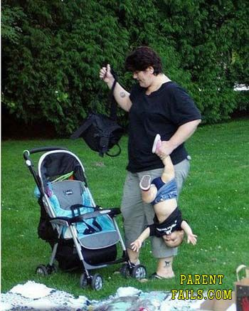 parent-fail - this is terrible, it's not thing it's a baby!!