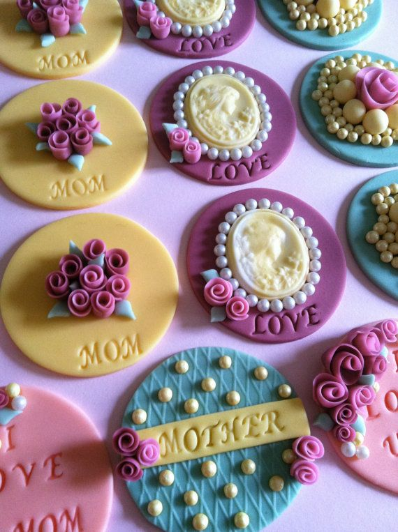 Victorian vintage cupcake/cookie toppers by CakesbyAngela on Etsy, $56.00