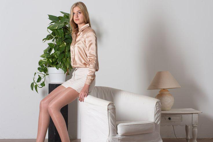 Le short Judith associé à l'élégante chemise Zoé en soie