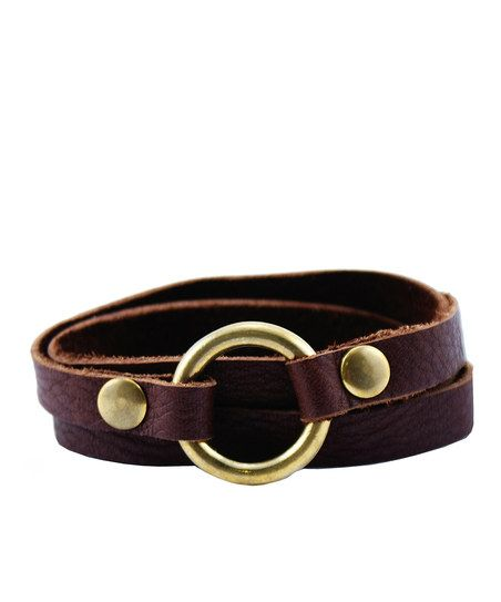 Brown & Gold Dixie Leather Bracelet