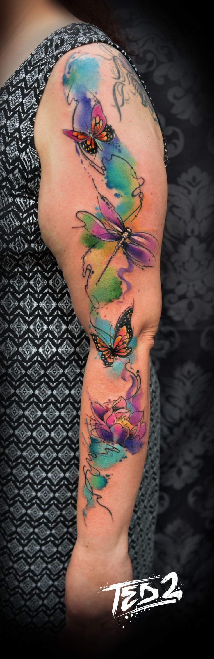 best 25 watercolor tattoo sleeve ideas on pinterest delicate feminine tattoos bird and. Black Bedroom Furniture Sets. Home Design Ideas