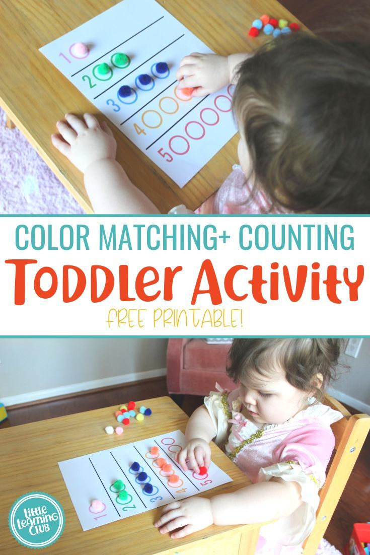 Color Matching + Counting Activity (Printable Included!) – Little Learning Club