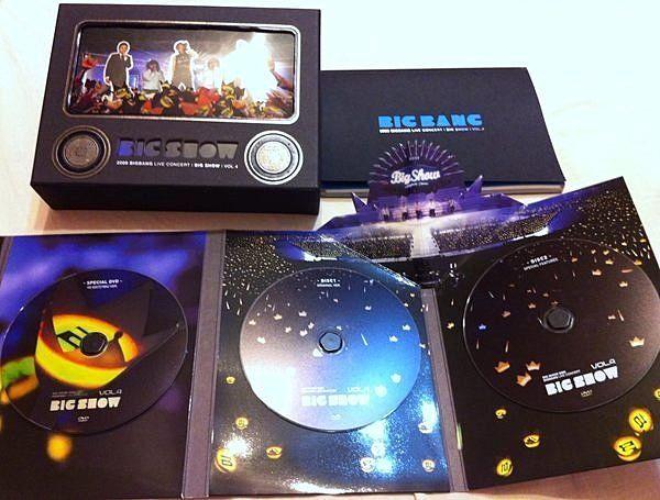 Big Bang 2009 Big Show 演唱會 韓版 DVD 1000/800