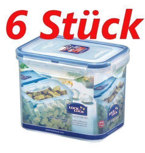 Passt für 1kg Mehl im Papier  ISI Lock & Lock Frischhaltedosen Set 6-teilig HPL 809 je 1,3 Liter: Amazon.de: Küche & Haushalt