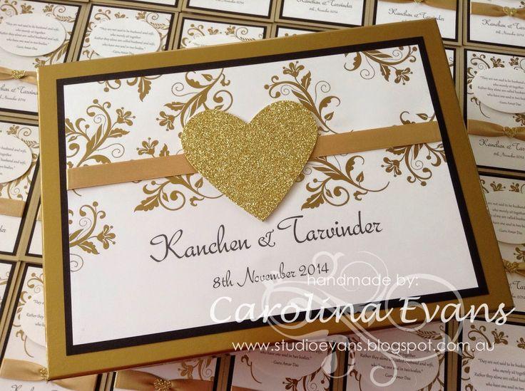 Stampin' Up! Elegant Gold Wedding Invitations, Flowering Flourishes, Stampin' Up! a creation by Carolina Evans