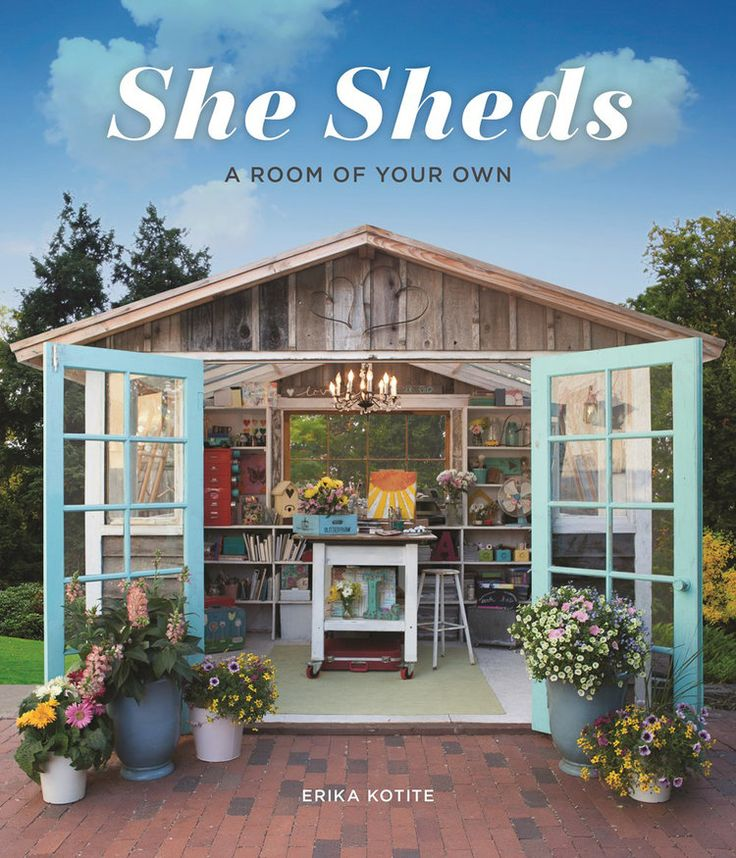 I have an exciting bit of news to share and a little giveaway for shed lovers! My Potting Shed is featured in She Sheds: A Room of Your Own, by Erika Kotite, published by Cool Springs Press/Quarto …