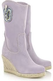 Anna Sui espadrillo wedge boots