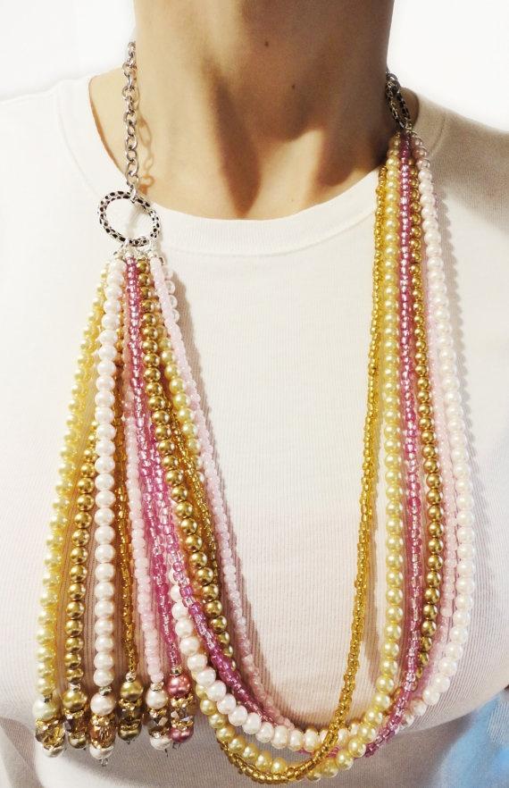 Gotta LOVE handmade statement necklaces from Jessica! $50.00