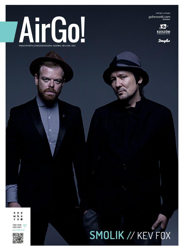 Okładka Air Go, magazynu Portu Lotniczego Rzeszów - Jasionka  SMOLIK/KEV FOX/ fot.Edyta Bartkiewicz